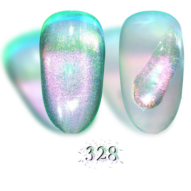 Ημιμόνιμο βερνίκι Aurora Εffect Νο 328 πράσινο, 10ml