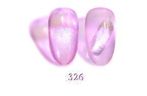 Ημιμόνιμο βερνίκι Aurora Εffect Νο 326 μωβ - ροζ, 10ml