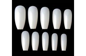 Νύχια coffin φυσικό κασετίνα 100τεμ χωρίς ένωση