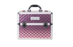 Επαγγελματική βαλίτσα αλουμινίου ροζ μεταλλικό