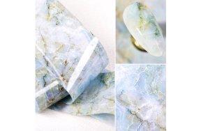 Foil νυχιών μάρμαρο γαλάζιο