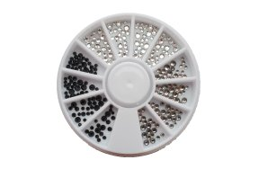 Στρας λευκό - μαύρο - ασημί 240τεμ