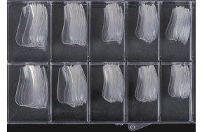 Νύχια coffin διάφανο κασετίνα 100τεμ