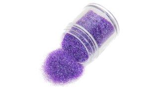 Σκόνη μωβ ιριδίζον glitter, 10g