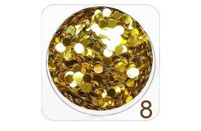 Παγέτα μεγάλη Νο 8 χρυσό, 2g