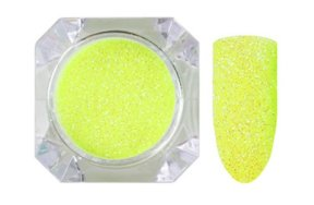 Σκόνη νέον κίτρινο glitter, 2.5g