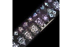 Foil νυχιών γεωμετρικά σχέδια