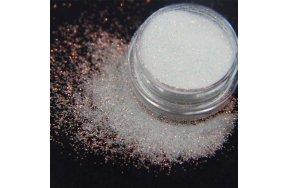 Σκόνη λευκό glitter ιριδίζον, 2g