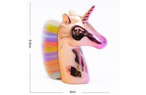 Πινέλο καθαρισμού σκόνης νυχιών σχήμα unicorn