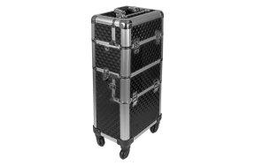 Επαγγελματική βαλίτσα αλουμινίου τροχήλατη μαύρο