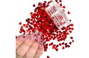 Διακοσμητικό νυχιών καρδούλα κόκκινη
