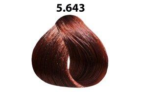 Βαφή μαλλιών Νο 5.643 καστανό ανοιχτό κόκκινο χάλκινο χρυσαφί, 100ml