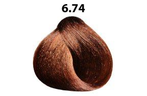 Βαφή μαλλιών Νο 6.74 ξανθό σκούρο μαρόν χάλκινο, 100ml
