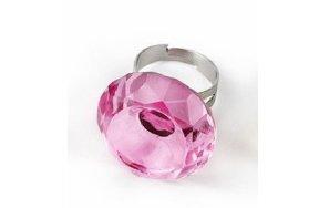 Γυάλινο ροζ δαχτυλίδι κόλλας βλεφαρίδων