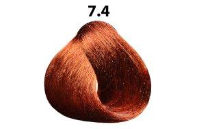 Βαφή μαλλιών Νο 7.4 ξανθό χάλκινο, 100ml