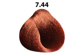 Βαφή μαλλιών Νο 7.44 ξανθό βαθύ χάλκινο, 100ml