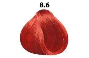 Βαφή μαλλιών Νο 8.6 ξανθό ανοιχτό κόκκινο, 100ml
