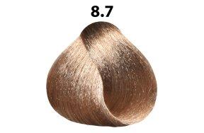 Βαφή μαλλιών Νο 8.7 ξανθό ανοιχτό μπεζ, 100ml