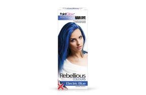 Rebellious ημιμόνιμη βαφή μαλλιών Electric Blue, 70ml