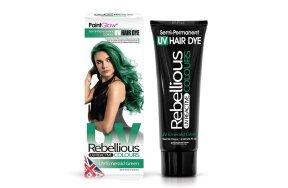 Rebellious ημιμόνιμη βαφή μαλλιών νέον Emerald Green, 70ml